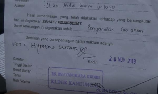 Surat Hasil Tes Keperawanan Dari Dokter Id Lif Co Id