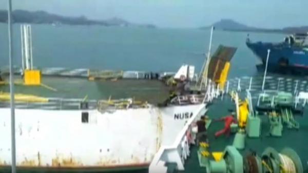 Terseret Arus Bawah Laut, 3 Kapal Roro Saling Bertabrakan di Pelabuhan Bakauheni