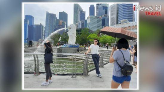 Patung Merlion di Singapura Jadi Destinasi Favorit Wisatawan Dunia