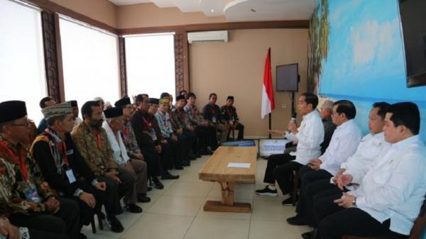 Presiden Jokowi Temui Tokoh Adat dan Masyarakat Kaltim, Bahas Pemindahan Ibu Kota