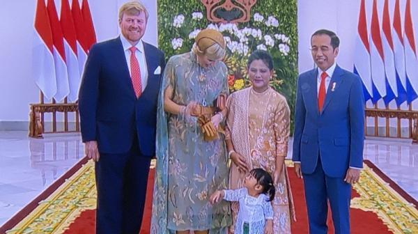 Saat Ratu Belanda Maxima Sapa Cucu Jokowi