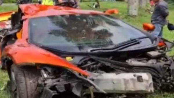 Video Supercar McLaren Kecelakaan di Tol Jagorawi, Begini Kondisinya