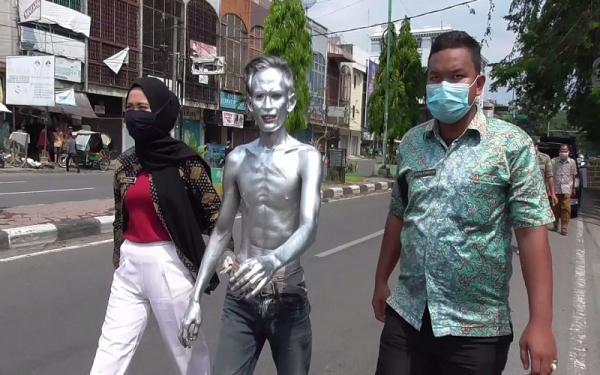 Dinas Sosial Amankan 36 Gelandangan, Pengemis dan Manusia Silver di Medan