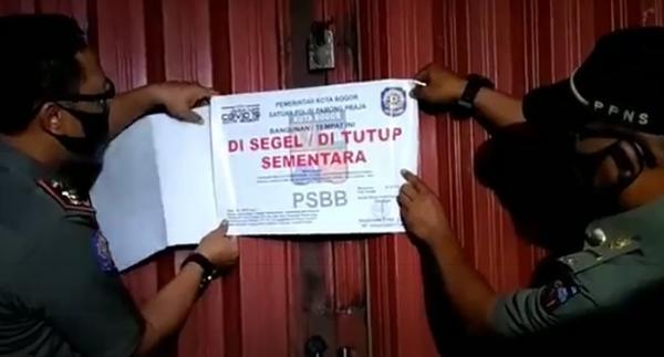 Langgar PSBB Transisi, Kelab Malam X-One di Kota Bogor Disegel