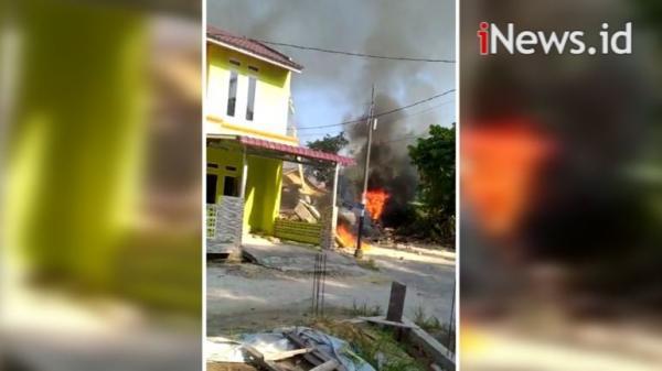 Detik-Detik Pesawat Tempur TNI AU Jatuh di Permukiman Warga Kampar Riau