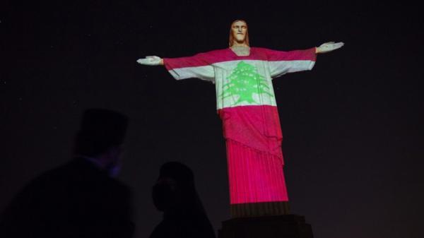 Penghormatan Korban Ledakan Beirut, Patung Yesus di Brasil Diterangi Bendera Lebanon