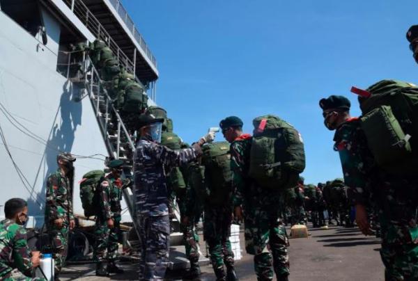 Hasil Rapid Test Non-Reaktif, Ratusan Prajurit Raider 400/BR Dilepas ke Papua