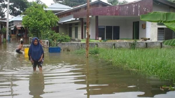 Diguyur Hujan 4 Jam Ribuan Rumah Warga Di Kawasan Medan Utara Terendam Banjir Bagian 1