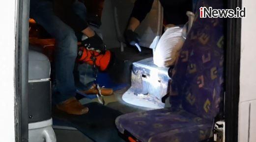 Video Petugas Hentikan Bus Pelangi Jurusan Medan-Tasikmalaya Bawa Sabu 13 Kg