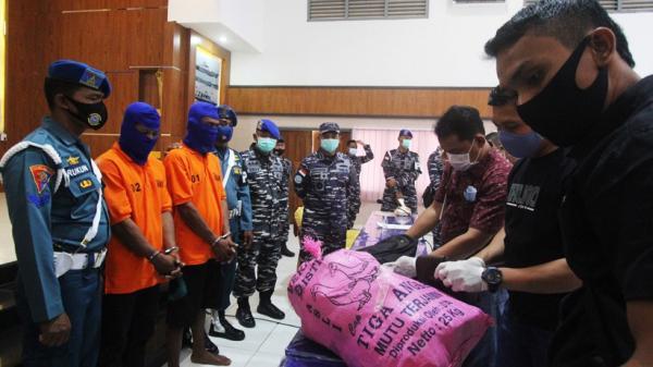 TNI AL Gagalkan Penyelundupan 10,7 Kg Sabu dari Malaysia