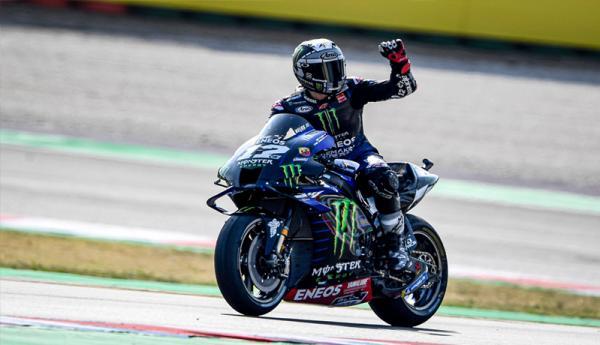 Hasil MotoGP Emilia Romagna: Rossi Terjatuh, Vinales Rebut Podium Tertinggi