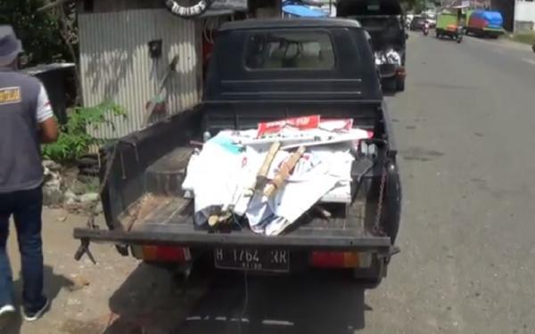 Ribuan Alat Peraga Kampanye di Kendal Ditertibkan karena Salahi Aturan