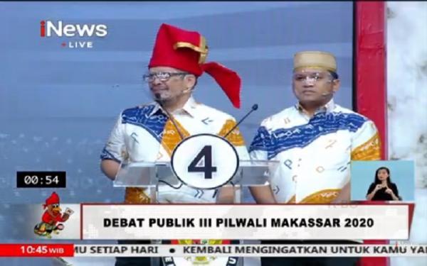 Debat Pilwali Kota Makassar, Paslon IMUN: Perlu Ide Artificial Intelligence Tangani Covid-19