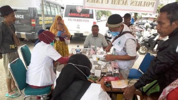 Pascabanjir, Pengungsi di Aceh Utara Mulai Mengeluhkan ISPA dan Gatal-Gatal