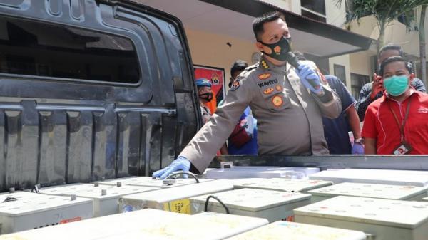 Spesialis Pencurian Baterai Aki Tower Ditangkap Tim Resmob Gabungan Polda Gorontalo