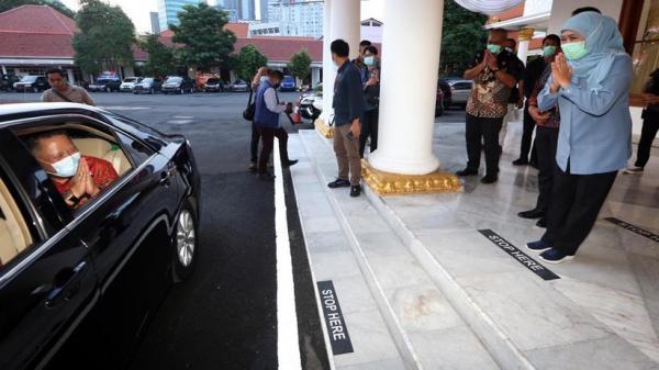 Whisnu Sakti Buana Temui Khofifah Bahas Penanganan Covid-19 di Surabaya