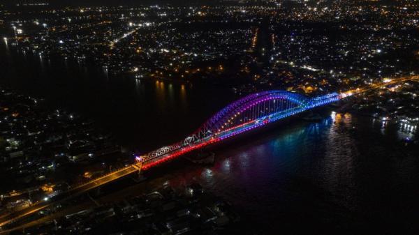 Dihiasi 1.527 Lampu, Begini Penampakan Jembatan Musi VI saat Diresmikan