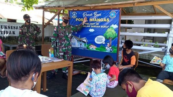 Lanal Melonguane Bangun Rumah Baca di Posal Miangas Pulau Terluar NKRI