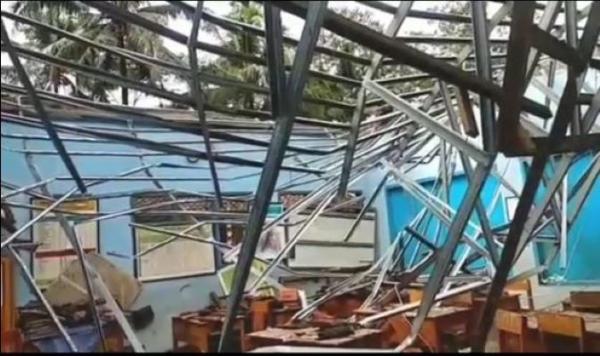 Diguyur Hujan Lebat, Atap Tiga Ruang Kelas SDN Sukadana Ambruk