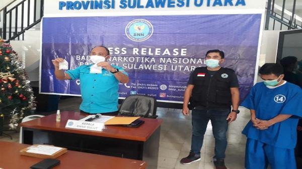 BNNP Sulut Amankan Kakak Beradik Pengedar Shabu