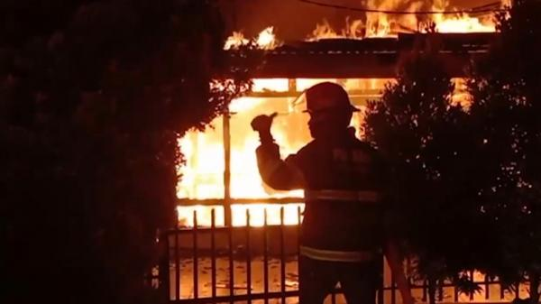 SPBU di Balongsari-Margomulyo Surabaya Terbakar