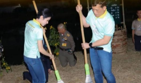 Thailand Rilis Foto Raja Maha Vajiralongkorn dan Permaisuri Nyapu Lantai Penjara