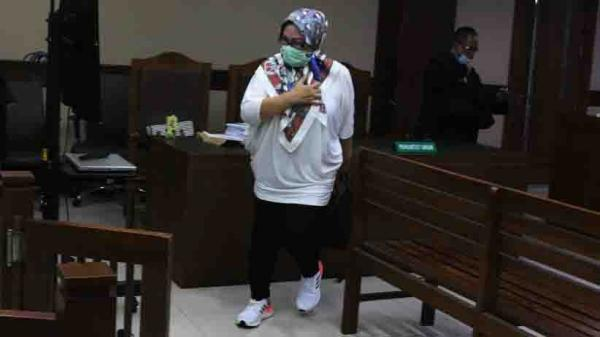 Penampilan Ratu Atut Chosiyah saat Sidang Lanjutan Permohonan PK