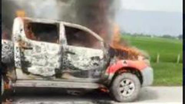 Hilux Terbakar di Tol Tebingtinggi–Medan, Ternyata Mobil Dinas Pemkab Batubara
