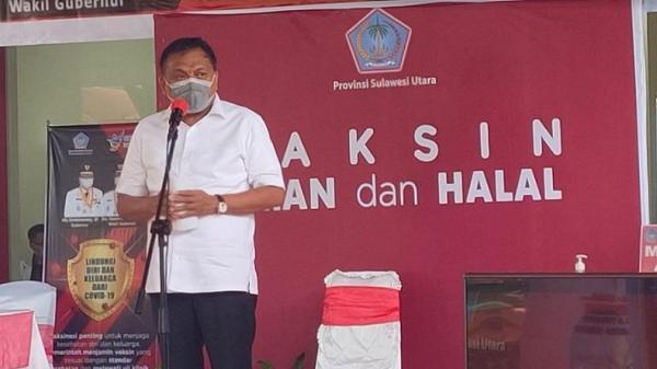 Gubernur Sulut Olly Dondokambey Batal Disuntik Vaksin, Ternyata Ini Penyebabnya