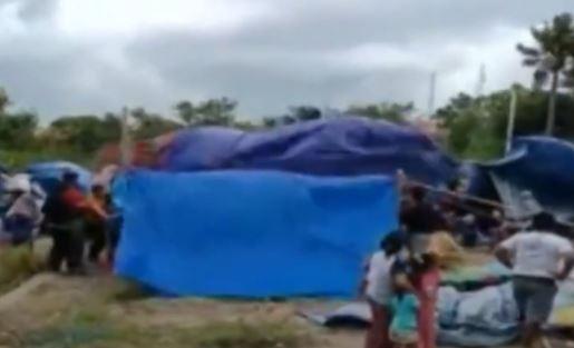 Video Tenda Pengungsi Gempa di Majene Porak-poranda Diterjang Angin Kencang