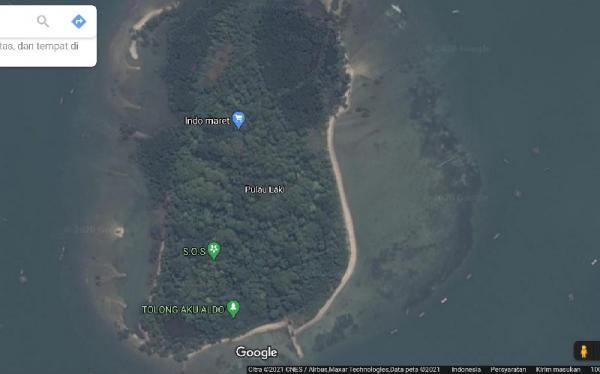 Viral di Media Sosial, Netizen Lihat Tanda SOS di Pulau Laki