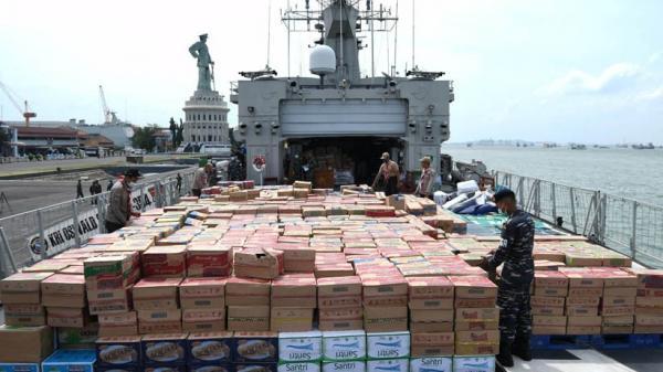 Koarmada II Kirim Bantuan untuk Korban Gempa Sulbar dengan KRI OWA 354