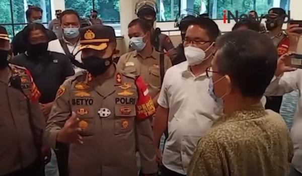 Video Wakapolres Jakpus Sidak Lokasi Konpers Tim Advokasi 6 Laskar FPI