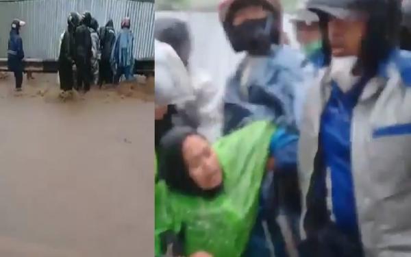 Video Emak-emak Terseret Arus Banjir di Sumedang Viral di Medsos