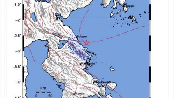 Morowali 2 Kali Diguncang Gempa M4,2 dan M4,3, Getaran Terasa hingga Bahadopi
