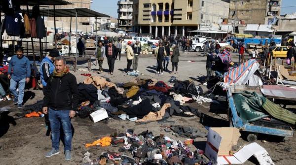 Bom Bunuh Diri di Pasar Baghdad Irak Tewaskan 32 Orang, ISIS Klaim Bertanggung Jawab