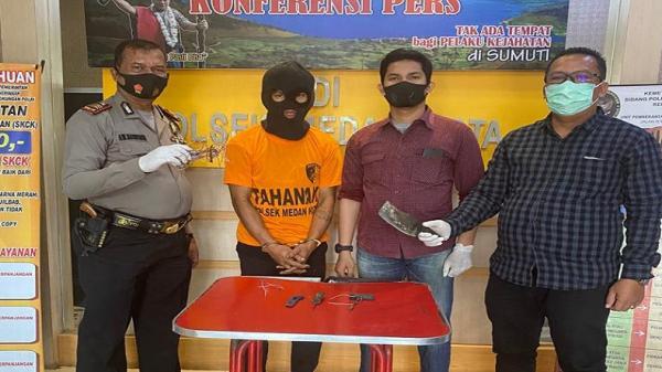Pencuri Kabel Telkom di Medan Ditangkap Warga
