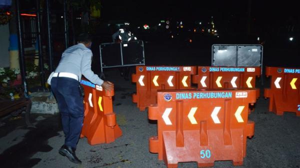 Kasus Covid-19 Melonjak, 8 Ruas Jalan di Ibu Kota Jawa Tengah Ditutup