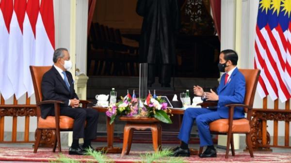 Video Presiden Jokowi Terima Kunjungan PM Malaysia Muhyiddin Yassin di Istana Merdeka Jakarta