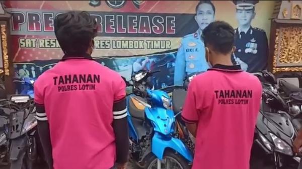 Dijebak Korban dan Polisi Menyamar, 2 Residivis Curanmor di Lombok Timur Ditangkap