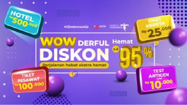 Wow! Wisata Dalam Negeri Diskon hingga 95% Bulan Ini, Cek Link Promo Mister Aladin di Sini!
