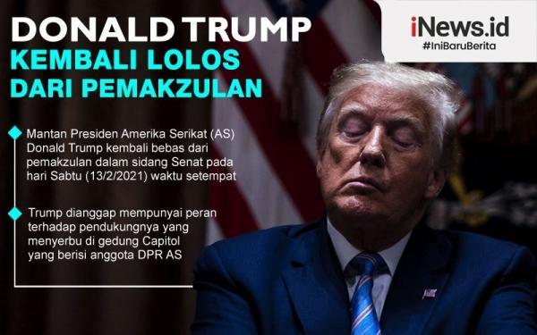 Infografis Donald Trump Selamat (Lagi) dari Pemakzulan