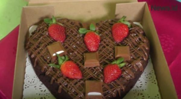 Kue Brownies Hati di Hari Kasih Sayang