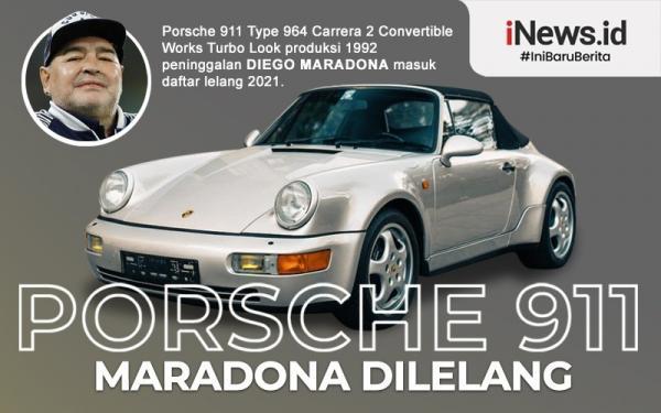 Infografis Mobil Porsche 911 Diego Maradona Dilelang
