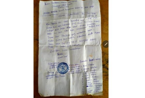 Tantang TNI-Polri, KKB Tulis Surat untuk Tentukan