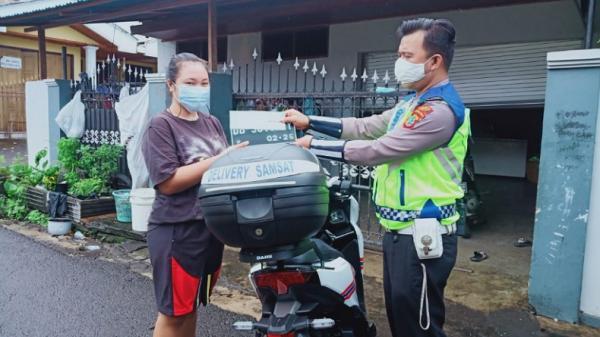 Satlantas Polres Bitung Laksanakan Samsat Delivery, Semua Dilayani Gratis
