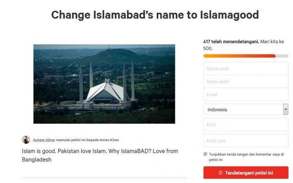 Muncul Petisi Ubah Nama Ibu Kota Pakistan dari Islamabad Jadi 'Islamagood'