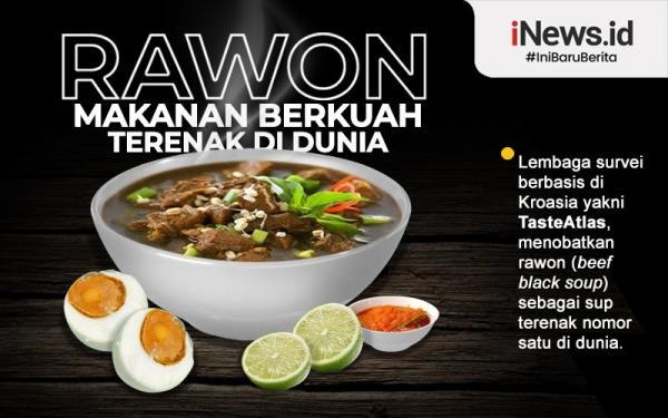 Infografis Rawon Khas Jawa Timur Sup Terlezat di Dunia