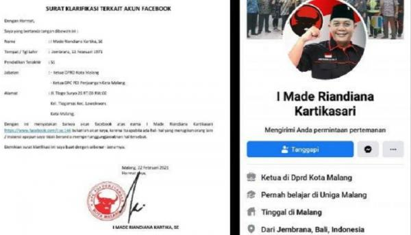 PDIP Laporkan Akun Pinjaman Online Fiktif yang Catut Nama Ketua DPRD Kota Malang