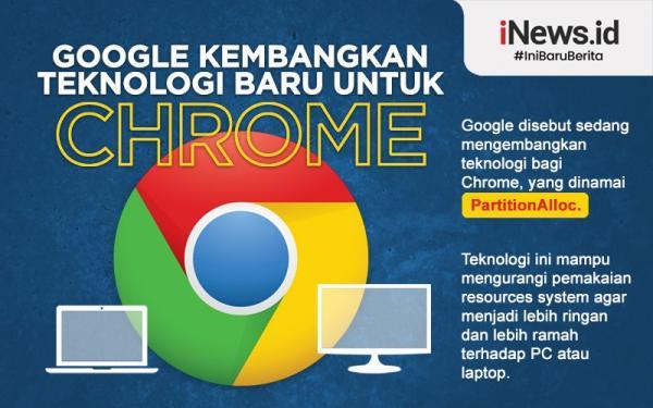Infografis Teknologi Baru Ditanamkan pada Chrome